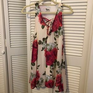 Show Me Your Mumu Rose Print Mini Dress XS